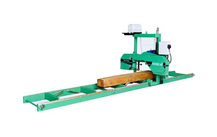 Sierra de cinta horizontal MJ375 / CD (tipo diesel y eléctrico)
