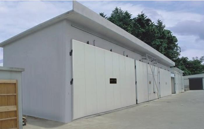 Horno de secado de madera con calentamiento a vapor tipo MYHZ (estructura civil)