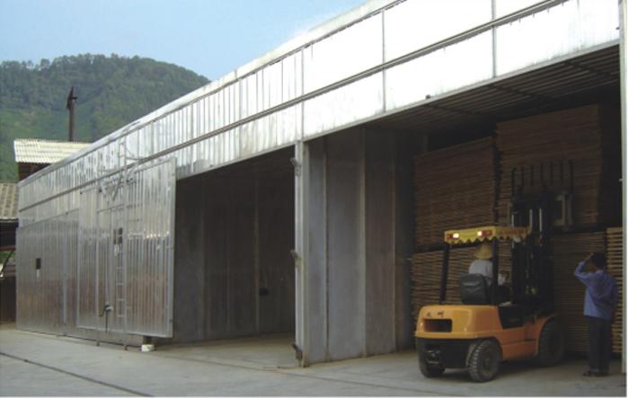 Equipo de control automático de embalaje de madera tipo MYHG-SR y tratamiento térmico de madera